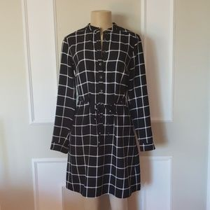 Checkered blouse dress